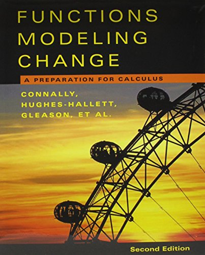 Functions Modeling 2nd Edition with Student Study Guide and Student Survey Set