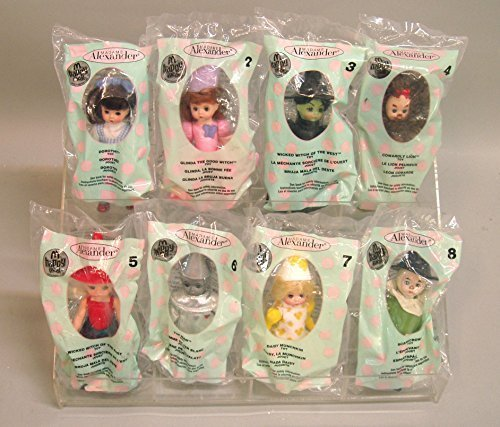 2007 McDONALDS HAPPY MEAL DOLLS COMPLETE SET Wizard of Oz Madame Alexander FREE UPGRADE TO PRIORITY MAIL (Wizard Of Oz Characters Glinda)