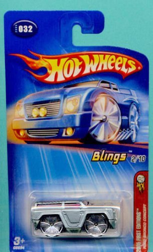Mattel Hot Wheels 2005 First Editions 1:64 Scale Blings Silver Ford Bronco Concept Die Cast Car #032 -
