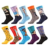 WeciBor Men's Funny Casual Novelty Crazy Cotton Socks Packs