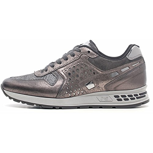 Sneaker mujer gris a616182d-105 – Negro Jardines