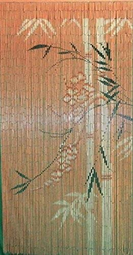 Master Garden Products Bamboo Print Beaded Bamboo Curtain, 36