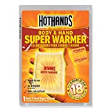 HotHands Body & Hand Super Warmers - Long Lasting Safe Natural Odorless Air Activated Warmers - Up to 18 Hours of Heat - 10 Individual Warmers