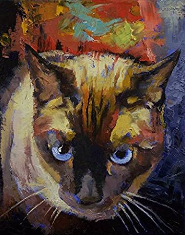 Wall Art Print entitled Seal Point Siamese by Michael Creese - Seal Point Siamese Cats