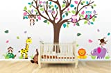 Large Jungle Tree Mural (Jungle Tree, Animals , and Owls)