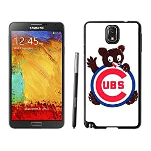 Chicago Cubs Black Abstract Design Custom Samsung Galaxy Note 3 N9005 Case