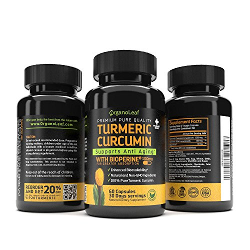 OrganoLeaf - Natural Dietary Supplements (Turmeric Curcumin)