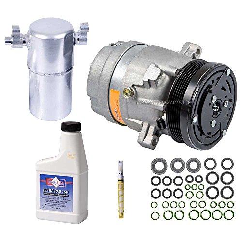 AC Compressor w/A/C Repair Kit For Buick LeSabre Pontiac Bonneville 3.8L V6 3800 2000 2001 2002 2003 2004 2005 - BuyAutoParts 60-80237RK New