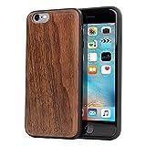 iPhone 6 and 6S Wood Case, Snugg Apple iPhone 6 and 6S Bumper Cover [Genuine Wood] TPU Shell Skin Ultra-Slim - Walnut