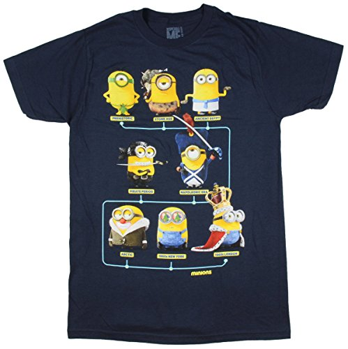 Despicable Me Minions Through The Ages T-Shirt Size : Medium