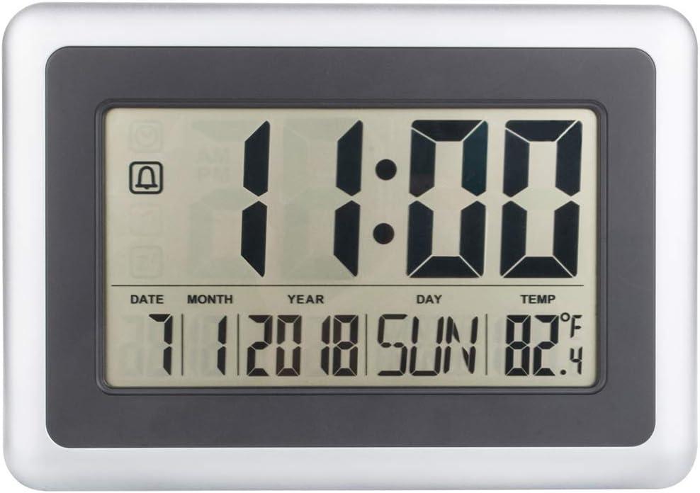 Alchgo Elegante Reloj Digital Atómico, Decorativo y Funcional. Excelente Legibilidad de Pantalla Grande
