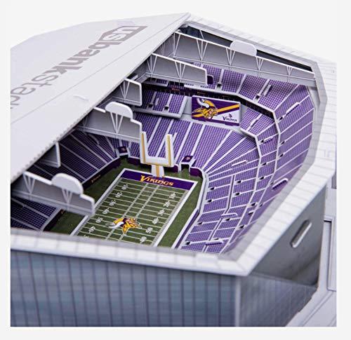 FOCO NFL Minnesota Vikings Team Football Stadium PZLZ 3D Paper Model Puzzle KitTeam Football Stadium PZLZ 3D Paper Model Puzzle Kit, Team Color, One Size (Best Football Kits Ever)