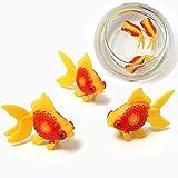 Nueva 3pcs peces de acuario tanque de Artificail Glodfish Simulación de la natación de los pescados