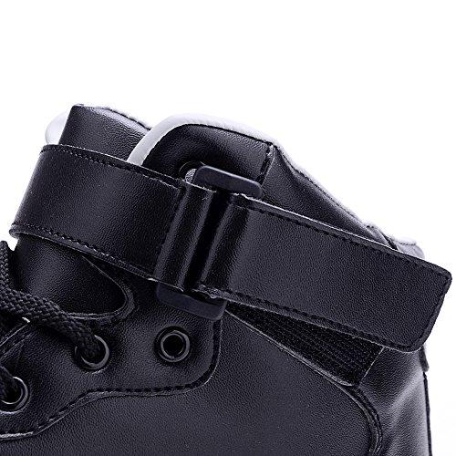 Luminosi Collo Uomo Alto a ODEMA Sneakers Lampeggiante Sportive LED Scarpe 7 Nero Colore TfXnxwqFgR