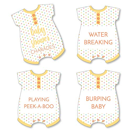 Baby Shower Charades (Big Dot of Happiness Baby Neutral - Baby Shower Game - Baby Charades Cards - Set of)