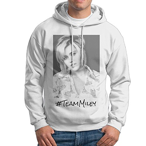 [Team Miley Miley Cyrus On The Voice Male Pullover White Hoodies Sweatshirts] (Billy Ray Cyrus Costumes Ideas)
