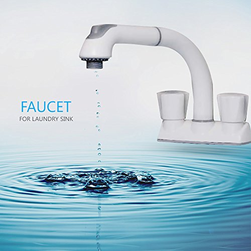 Cleanflo 481 Pull Out Laundry Faucet 3 Hole Installation High 8 Inch Arc New Ebay