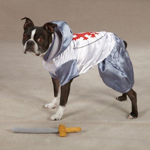 Zack & Zoey Polyester Knight Dog Costume, Small, Silver