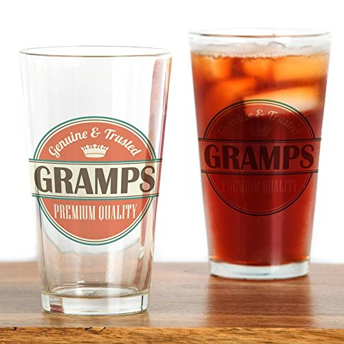 CafePress Gramps Grandpa Pint Glass, 16 oz.