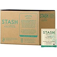 Stash Tea Organic Cascade Mint Herbal Tea 100 Count Tea Bags in Foil (Packaging May Vary) Individual Herbal Tea Bags for Use in Teapots Mugs or Cups, Brew Hot Tea or Iced Tea