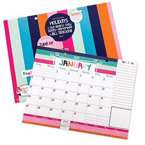Double Column Wall - Monthly Planner Pads (2019-2020 Monthly Pad, 12x9)