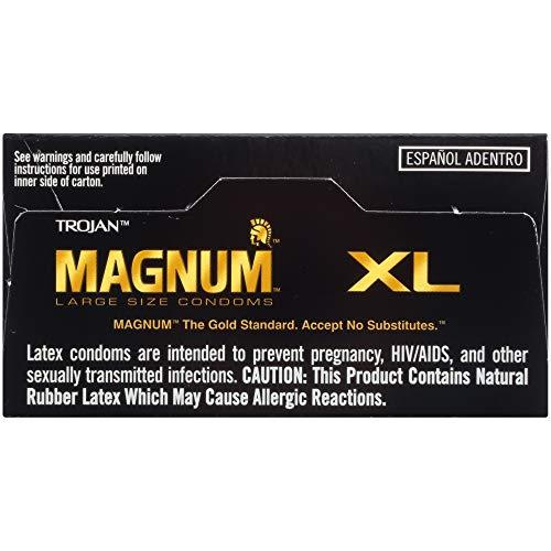 TROJAN MAGNUM XL Large Size Condoms, 12 Count