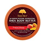Tree Hut 24 Hour Intense Hydrating Shea Body Butter Tropical Mango, 7oz, Hydrating Moisturizer with Pure Shea Butter for Nourishing Essential Body Care