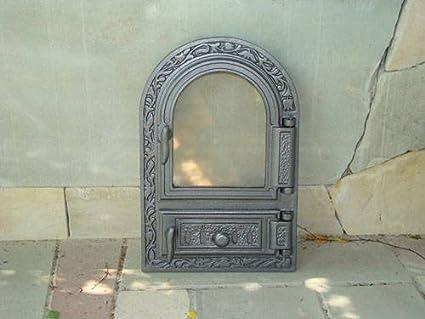 Estufa Puerta Horno Puerta Del Horno Puerta Puerta Horno para pizza Madera del Horno Puerta Horno de piedra para puerta de hierro fundido con horno ...