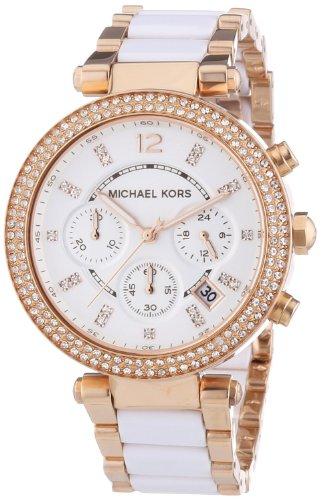 Michael Kors Watches Parker Watch (WhiteRose Gold)