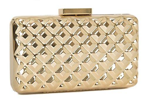 Borsa borsetta pochette donna a mano o tracolla LOVE MOSCHINO articolo JC4113PP1 0901 Oro