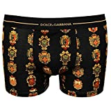 Dolce & Gabbana Siciliana House Crests Men's Boxer Trunk, Black Medium