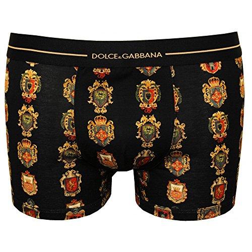 Dolce & Gabbana Siciliana House Crests Men's Boxer Trunk, Black Medium (Underwear Dolce Mens & Gabbana)