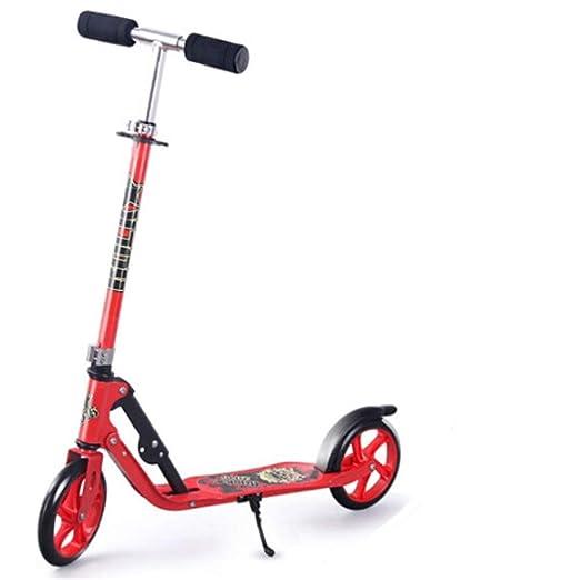 ZHIJINLI Scooter para Adultos Rueda Grande de Dos Ruedas ...