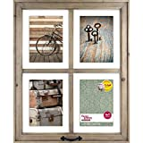4-Opening Rustic Windowpane Collage Frame