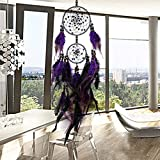 DUOER-wind chimes Vintage Home Decoration Retro Feather Dream Catcher Circular Feathers Wall Hanging Dream Catchers Decor for Car (Color : C)