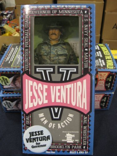 Jesse Ventura Man Of Action U.S. Navy Seal 12' Fully Articulated Action Figure From Toyboy Man 1999 by wwf 12' figure by wwf 12' figure