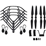 BTG Part Kit for DJI Mavic Pro RC Drone: Propellers + Quick Release Propeller Guards + Landing Gear (Grey)