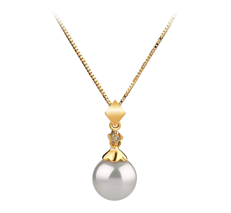 Besty Womens Pendants Pearl with Golden Work