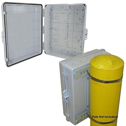 Altelix 17x14x6 Pole Mount ABS Weatherproof NEMA Box Outdoor Equipment Enclosure