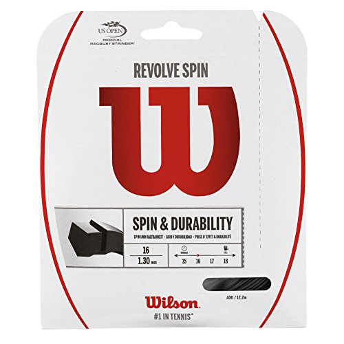 Wilson Revolve Spin (16-1.30mm) Tennis String Set (Black)