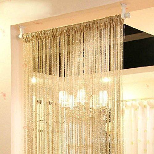 Norbi Vogue Tassel String Door Window Room Divider Partition Curtain Valance (Yellow)