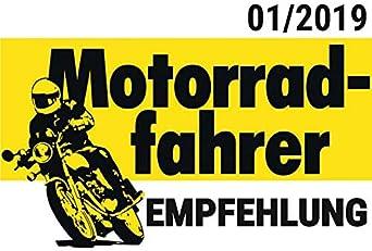 Thermoboy Motorradkombi einteilig Wintertouren Kombi 1.0 Protektoren-Taschen Helm-Kapuze wasserdicht Beinabschluss Schwarz Langer Front-Rei/ßverschluss M-XXL // 2XL Weitenregulierung am Oberarm