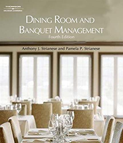 dining room and banquet management anthony j strianese pamela p rh amazon com dining room and banquet management Dish Cabinet Dining