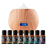 Kyпить ArtNaturals Aromatherapy Essential Oil and Diffuser Set - 150ml & Top 8 - Peppermint, Tee Tree, Rosemary, Orange, Lemongrass, Lavender, Eucalyptus, & Frankincense - Auto Shut-off and 7 Color LED Light на Amazon.com