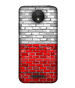 ColorKing Football Poland 01 Multicolor shell case cover for Motorola Moto C Plus