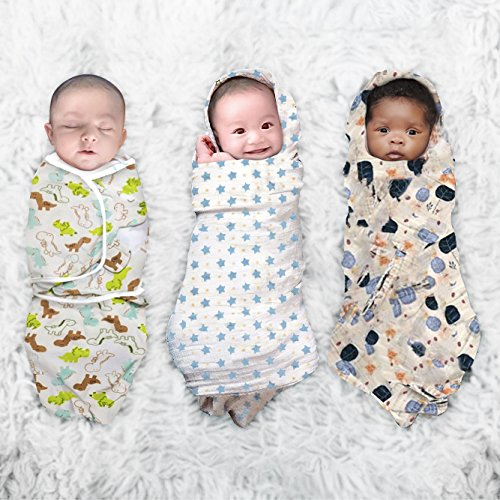 Baby Swaddle Blankets, Adjustable Baby Sleep Sack Wrap, Muslin Cotton, Baby Gift for Newborn, Baby Christmas Gift Registry Set, Infant preemie snuggle