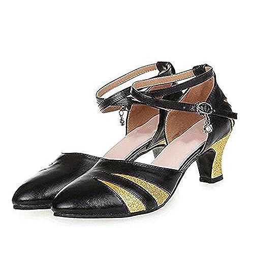 Señoras Zapatos Goma De Suave Tgkhus Suela Cuero Fondo Sandalias zqgZOZ5wp