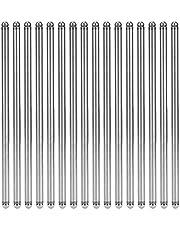 5/16in Diameter 16pcs Hardened Steel Durable Hardened Pushrod, Valve Push Rod, for '55-'94 302, 305, Chevy '55-'94 262, 283 '55-'94 262, 283,