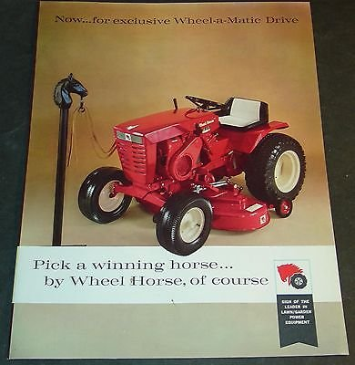 (VINTAGE 1960'S WHEEL HORSE LAWN & GARDEN TRACTOR SALES BROCHURE 12 PAGES (640))