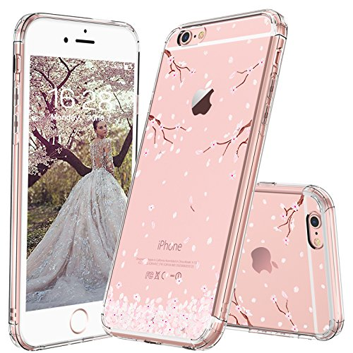 - MOSNOVO iPhone 6S Case/iPhone 6 Case, Cherry Blossom Floral Printed Flower Clear Design Transparent Plastic Hard Slim Case with Soft TPU Bumper Protective Case Cover for Apple iPhone 6/iPhone 6S